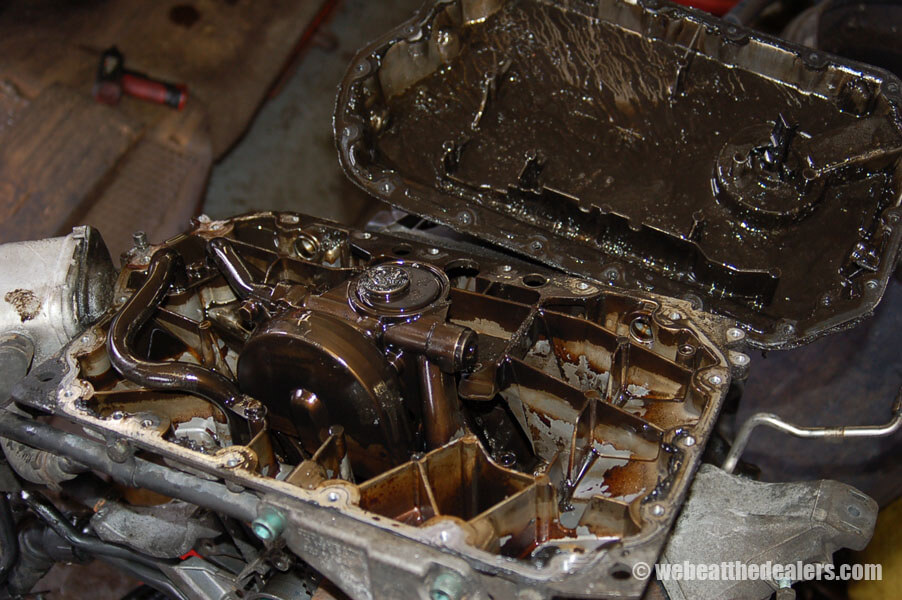 Boston - Waltham BMW, Audi and VW service - Previous Work - 2002 Audi S4 2.7 engine failure due to engine sludge