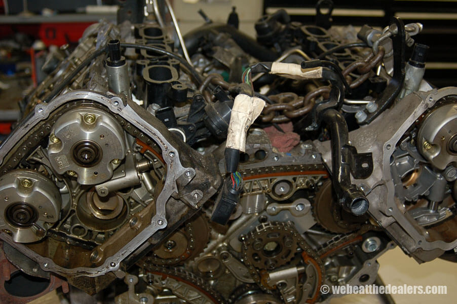 Boston - Waltham BMW, Audi and VW service - Previous Work - Audi 3.2 timing chain failure